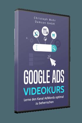3D Cover Google Ads Videokurs Lösung: Google Ads Grundlagen Prüfung