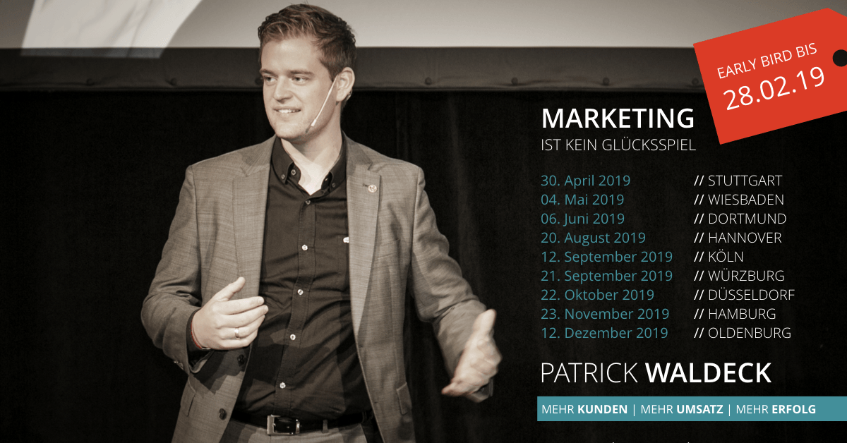 Patrick Waldeck Marketing Seminar Buchung Banner Fullsize