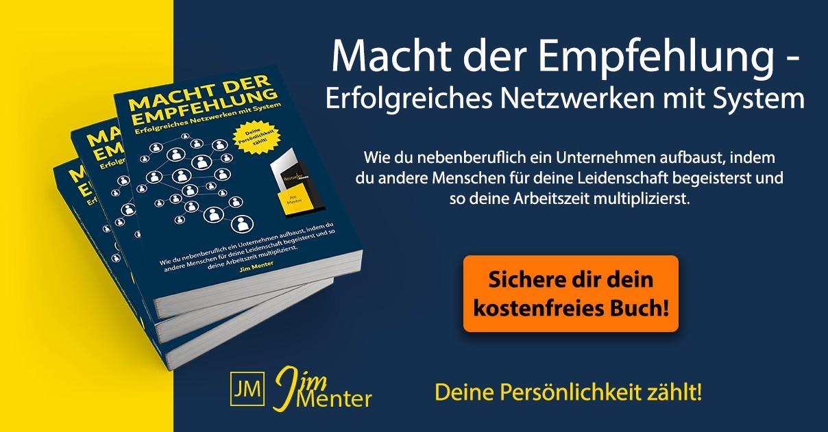 Jim Menter - DIe Macht der Empfehlung gratis Buch Fullsize