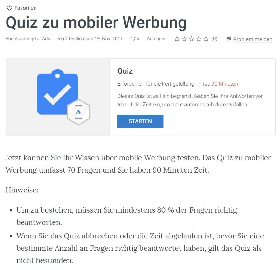 google ads mobile werbung pruefung Lösung: Mobile Google Ads Werbung Prüfung