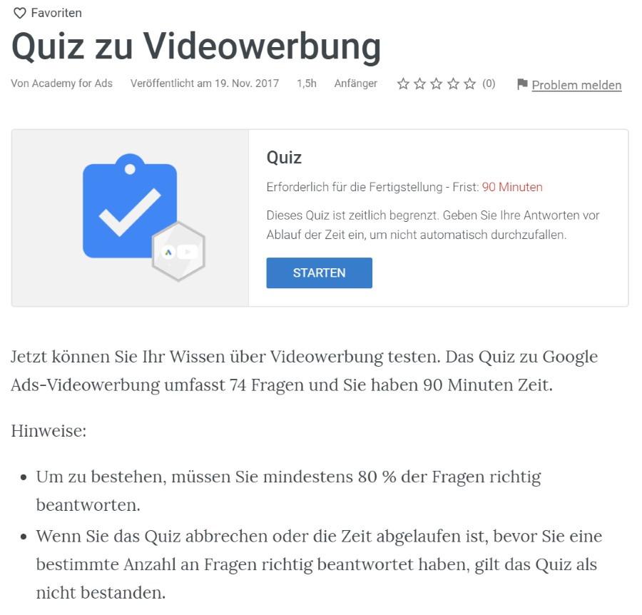 google ads videowerbung pruefung Lösung: Google Ads Videowerbung Prüfung