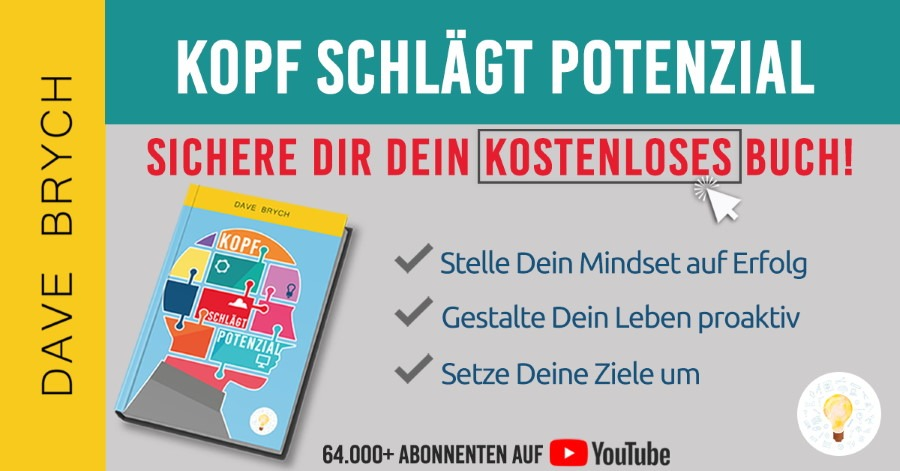 Kopf schlägt Potenzial gratis Buch Banner