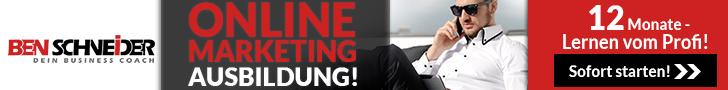 Online Marketing Ausbildung mit Ben Schneider Banner Fullsize