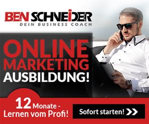 online marketing ausbildung ben schneider banner Lösung: Zertifizierung für Onlinewerbung und Vertrieb
