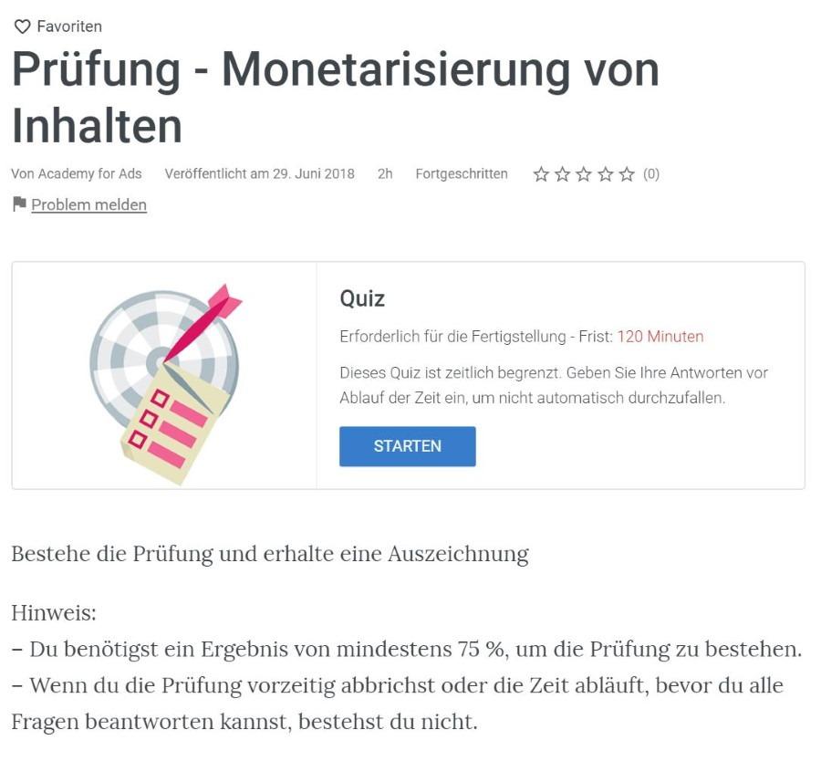 youtube monetarisierung von inhalten pruefung Lösung: YouTube Monetarisierung von Inhalten Prüfung