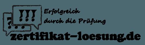 Logo zertifikat-loesung.de - Erfolgreich durch die Prüfung