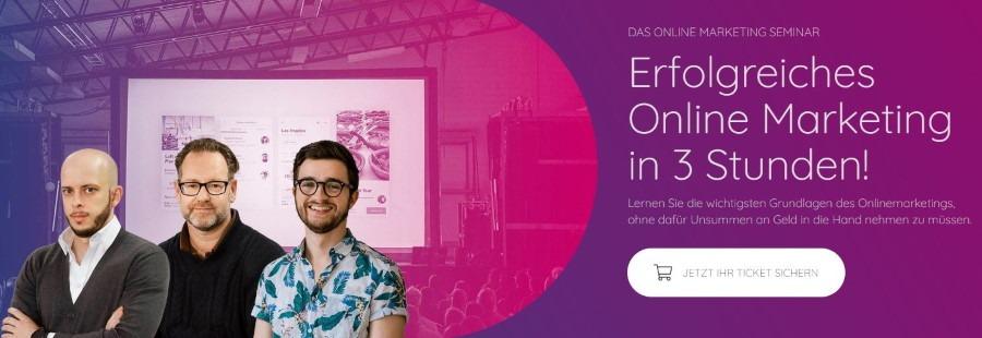OMHUB - Erfolgreiches Online Marketing in 3 Stunden Seminar